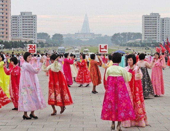 North Korea Choson ot Mass Dance Pyongyang