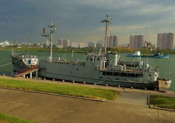 Pueblo Incident ship in Pyongyang
