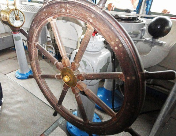 Pueblo ship captains wheel