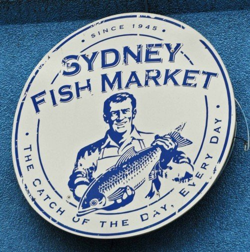 Sydney Fish Market sign, photo courtesy Changes in Longitude