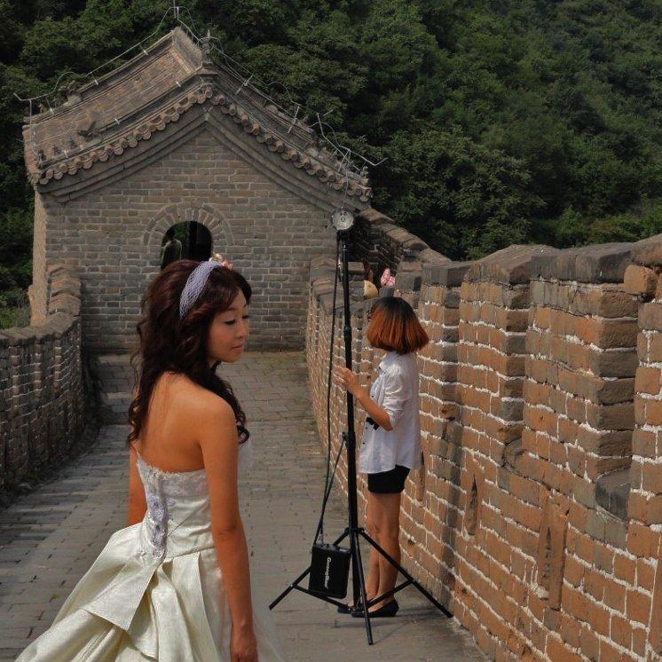 Bride Great Wall of China