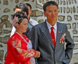 North Korea wedding party