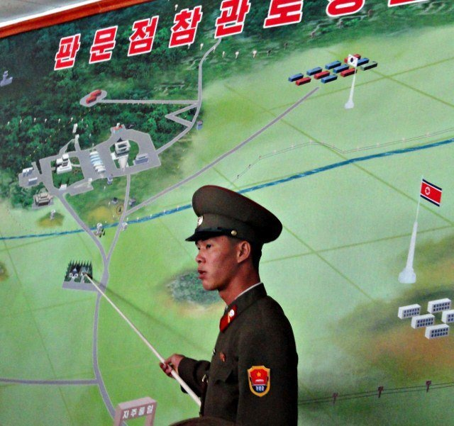 visiting the DMZ on the North Korean side