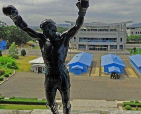 Little Rocky statue at DMZ in North Korea