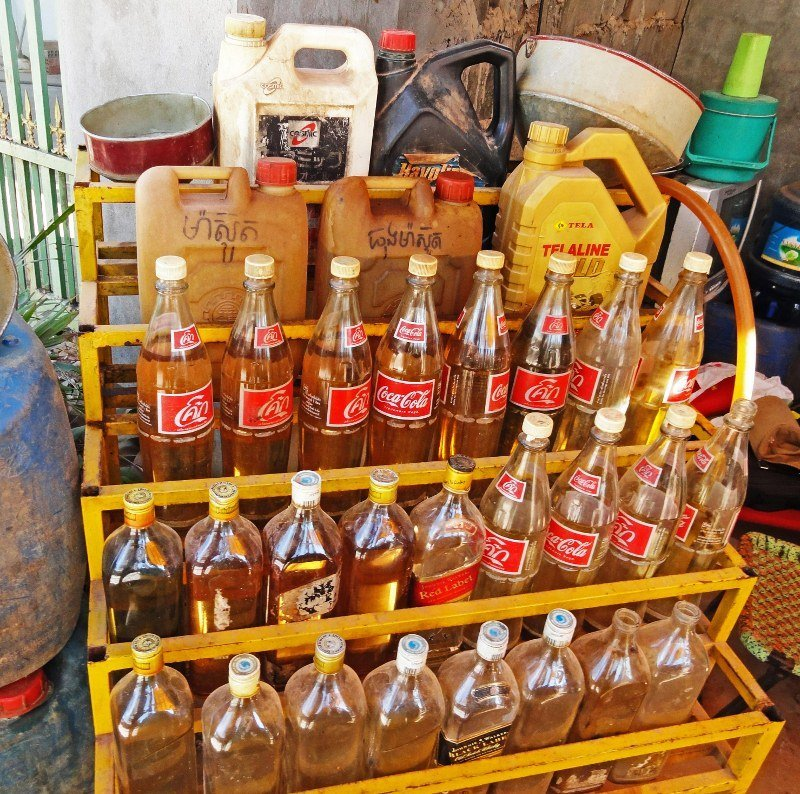 Coke petrol bottles