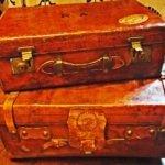 Vintage luggage Raffles Hotel Singapore