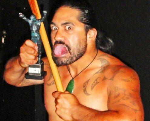 Maori Haka performer