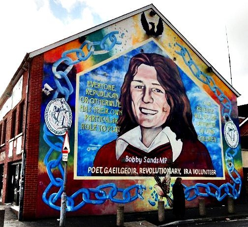 Pictures of the belfast murals for Bobby sands mural