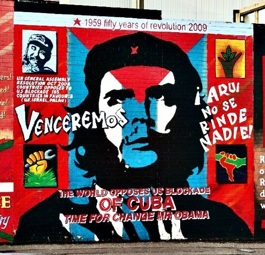 Belfast mural Che Guevara