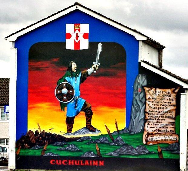 Belfast murals Cuchulainn