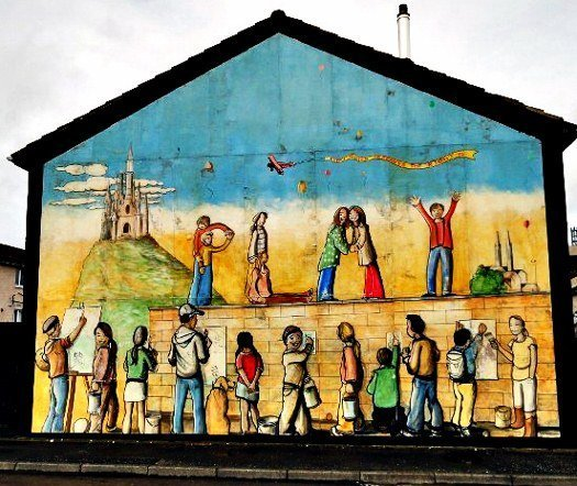 Belfast peace mural