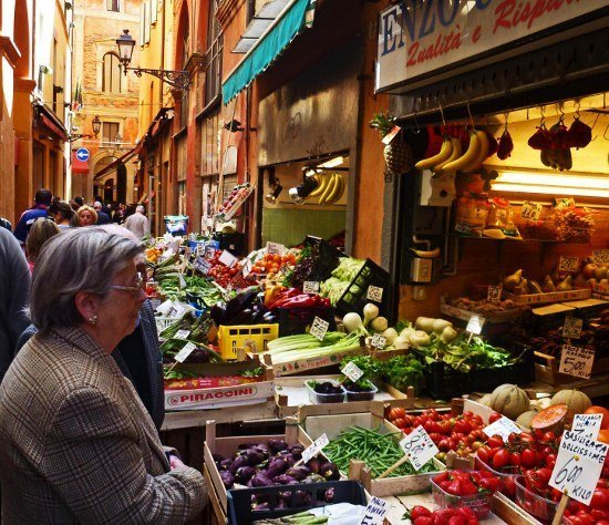 Bologna food produce market