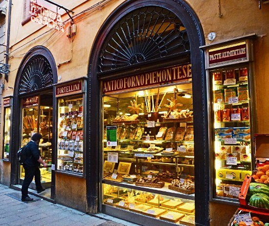 Bologna food shop