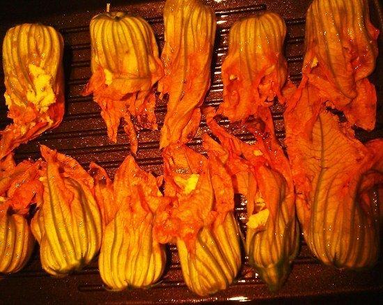 Bologna stuffed zucchini flowers