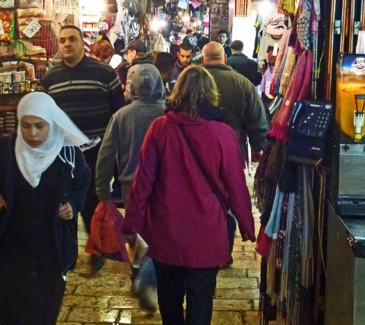 Via Dolorosa Arab market