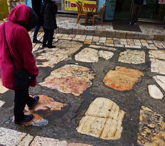 Via Dolorosa Roman stones 100 BC