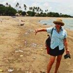 Bali beach trash