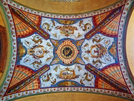 Bologna portico painted ceiling (550x415)