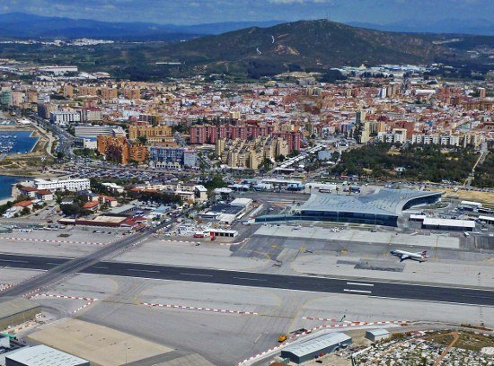 Gibraltar Airport birds eye view