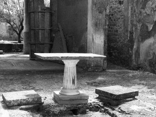 Photo of Pompeii pedestal table