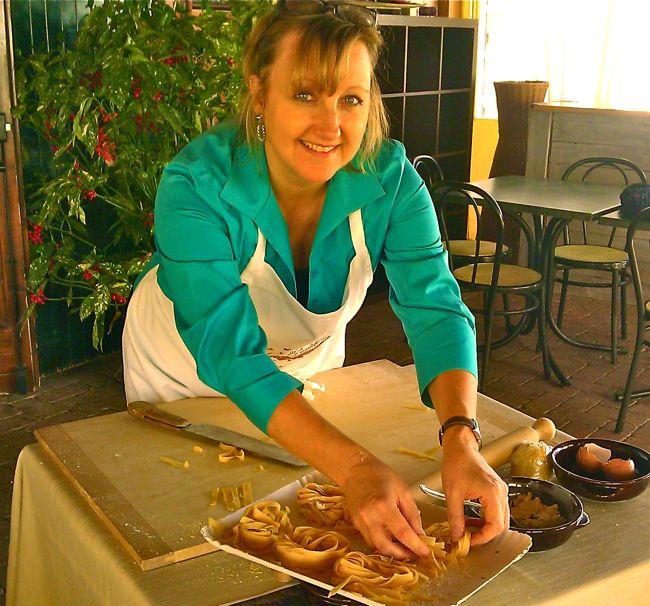 making fresh pasta in italy