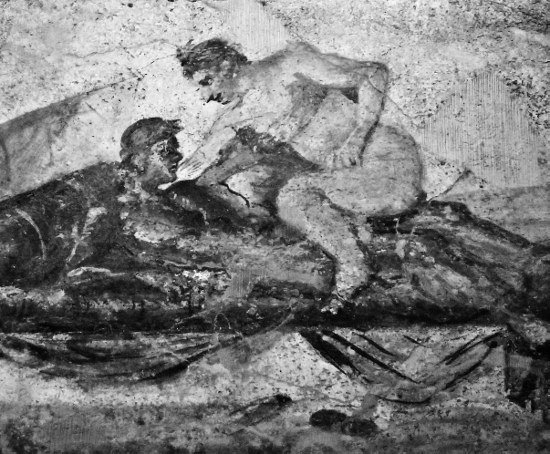 Pompeii brothel painting