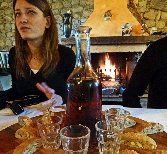 Truffle fireplace Vin Santo