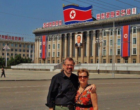 Larissa Michael Kim Il Sung Square Pyongyang