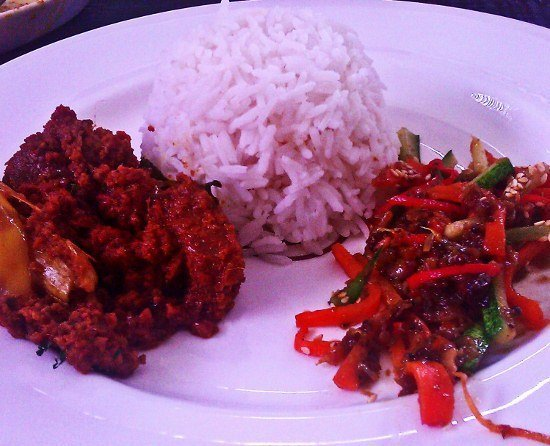 Malaysian cooking beef rendang food
