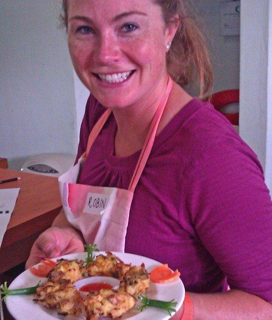 Malaysian food prawn fritters robin