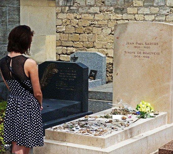 Montparnasse Cemetery Sartre Grave
