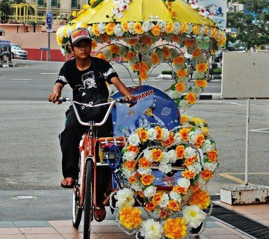 Colorful Trishaw Malacca Melaka