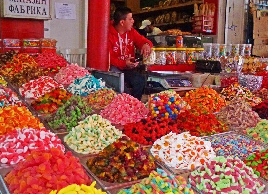 Food in Israel Carmel Market candy