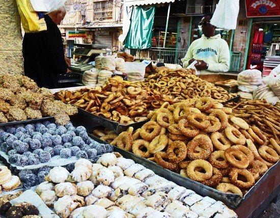 Food in Israel Mahane Yehuda market cookies