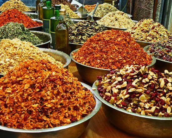 Food market Mahane Yehuda Jerusalem spice blends