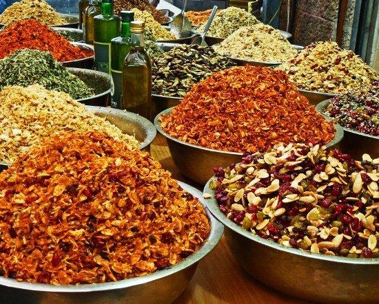 Food market Mahane Yehuda Jerusalem spice blends