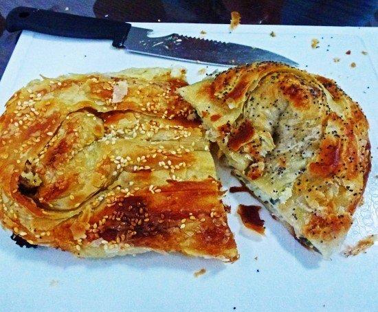 Israeli food crispy cheesy bread