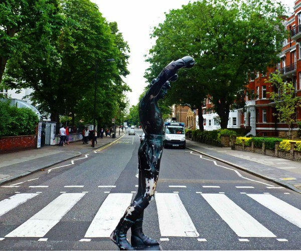 Rocky crossing Abbey Road in London