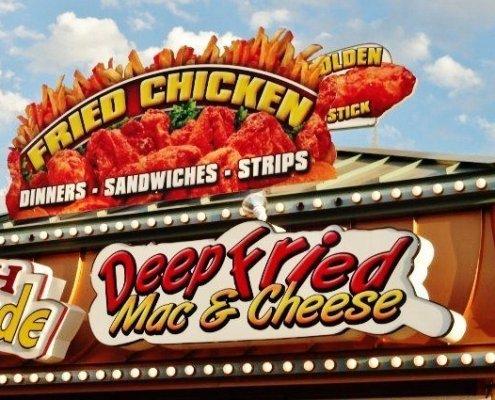 Iowa State fair food fried mac and cheese