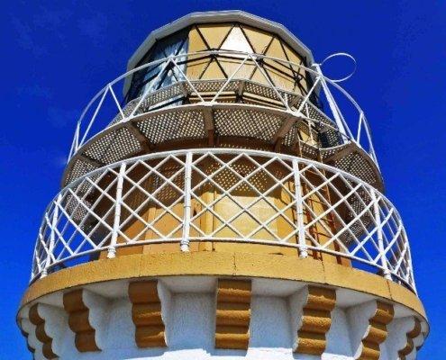 Kinnaird Head Lighthouse in Scotland crown