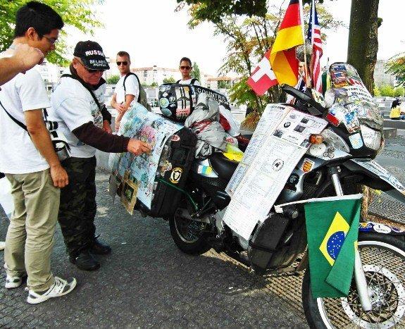 Vladimir Yarets motorcycle around the world