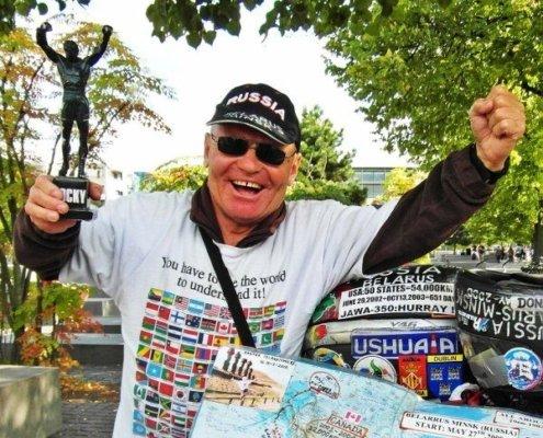 Vladimir Yarets motorcycle ride around the world