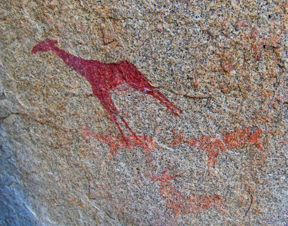 Ai Aiba rock painting lodge Namibia
