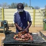 Kapana vendor Katatura market Namibia