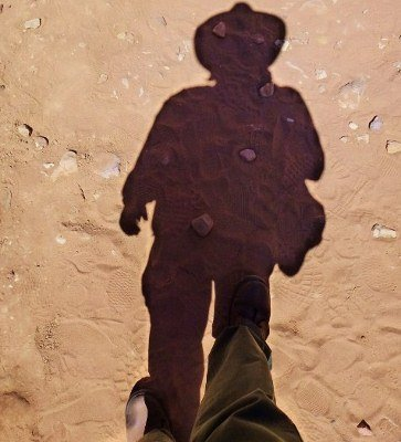 Petra Indiana Jones shadow