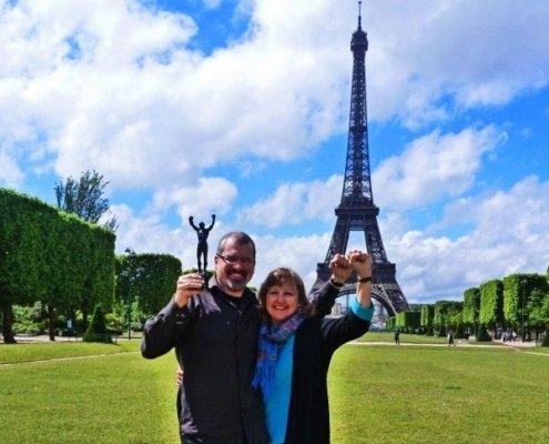 Rocky Michael Larissa Milne Eiffel Tower
