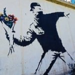 Security wall in Israel Banksy mural