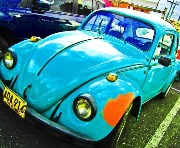 Colombia Bogota vintage blue VW beetle