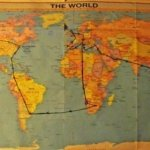 map round the world trip planning