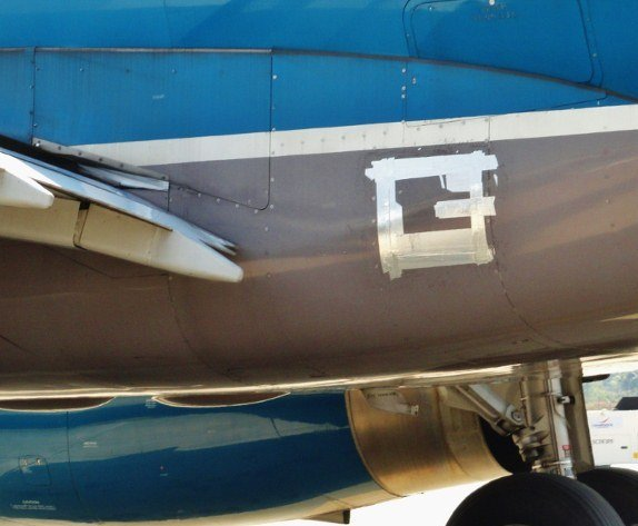 Vietnam Airlines duct tape